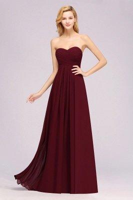 A-line Chiffon Sweetheart Strapless Ruffles Floor-length Bridesmaid Dress_5