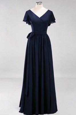 Elegante Brautjungfernkleider Mit Schlitz   Schlichtes Brautjungfer Kleid Online Kaufen_27