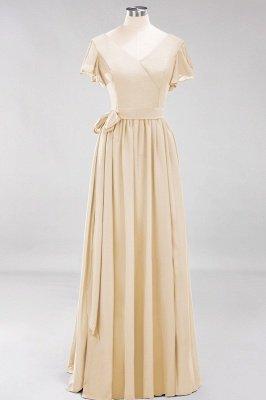 Elegante Brautjungfernkleider Mit Schlitz   Schlichtes Brautjungfer Kleid Online Kaufen_14