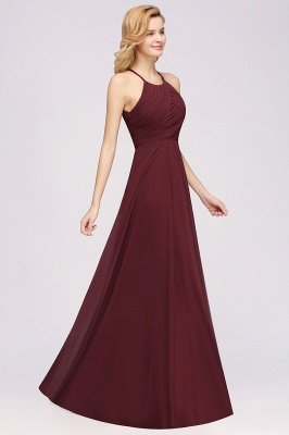 A-Line Chiffon Halter Ruffles Floor-Length Bridesmaid Dress_38
