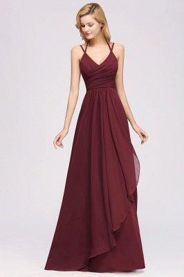 A-line Chiffon Spaghetti Straps Sleeveless Ruffles Floor-Length Bridesmaid Dresses_5