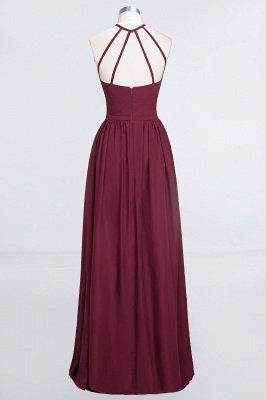 A-Line Chiffon Neckholder Braujungfer Kleid   Bodenlanges Brautjungfernkleid Online Kaufen_4