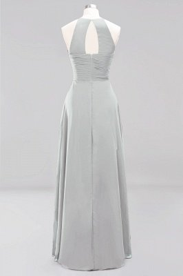 A-Line Chiffon Halter Ruffles Floor-Length Bridesmaid Dress_29