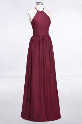 A-Line Chiffon Neckholder Braujungfer Kleid   Bodenlanges Brautjungfernkleid Online Kaufen_5