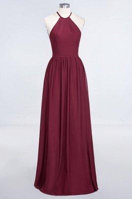 A-Line Chiffon Neckholder Braujungfer Kleid   Bodenlanges Brautjungfernkleid Online Kaufen_3