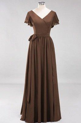 Elegante Brautjungfernkleider Mit Schlitz   Schlichtes Brautjungfer Kleid Online Kaufen_12