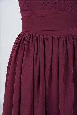Chiffon A-Line One-Shoulder Sleeveless Short Bridesmaid Dress with Ruffles_6