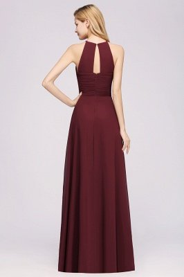 A-Line Chiffon Halter Ruffles Floor-Length Bridesmaid Dress_36