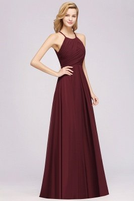 A-Line Chiffon Halter Ruffles Floor-Length Bridesmaid Dress_37