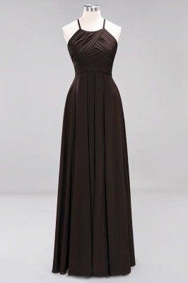 A-Line Chiffon Halter Ruffles Floor-Length Bridesmaid Dress_11