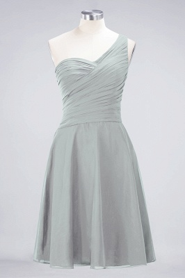 Chiffon A-Line One-Shoulder Sweetheart Sleeveless Short Bridesmaid Dress with Ruffles_29