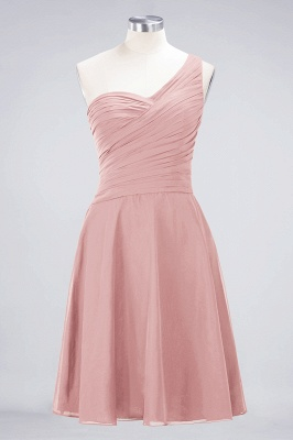 Chiffon A-Line One-Shoulder Sweetheart Sleeveless Short Bridesmaid Dress with Ruffles_6