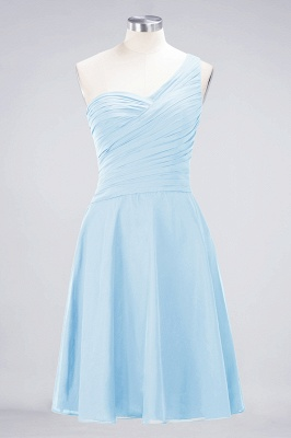 Chiffon A-Line One-Shoulder Sweetheart Sleeveless Short Bridesmaid Dress with Ruffles_22