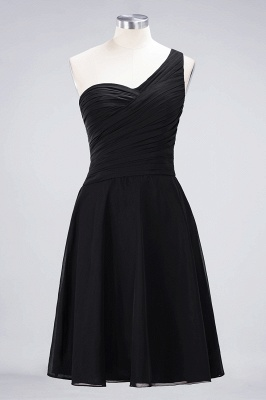 Chiffon A-Line One-Shoulder Sweetheart Sleeveless Short Bridesmaid Dress with Ruffles_28