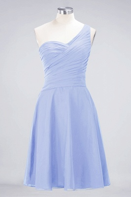 Chiffon A-Line One-Shoulder Sweetheart Sleeveless Short Bridesmaid Dress with Ruffles_21
