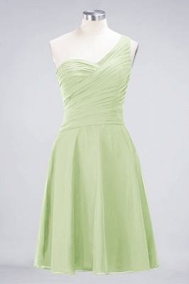 Chiffon A-Line One-Shoulder Sweetheart Sleeveless Short Bridesmaid Dress with Ruffles_33