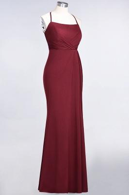 Spandex Lace Mermaid Spaghetti-Straps Sleeveless Long Bridesmaid Dress with Ruffle_33