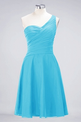 Chiffon A-Line One-Shoulder Sweetheart Sleeveless Short Bridesmaid Dress with Ruffles_23