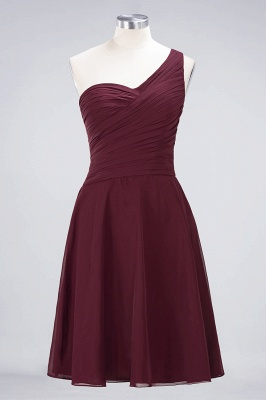 Chiffon A-Line One-Shoulder Sweetheart Sleeveless Short Bridesmaid Dress with Ruffles_10