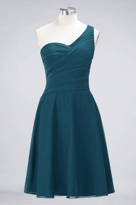 Chiffon A-Line One-Shoulder Sweetheart Sleeveless Short Bridesmaid Dress with Ruffles_26