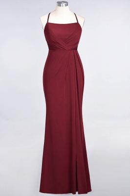 Spandex Lace Mermaid Spaghetti-Straps Sleeveless Long Bridesmaid Dress with Ruffle_31