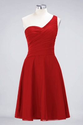 Chiffon A-Line One-Shoulder Sweetheart Sleeveless Short Bridesmaid Dress with Ruffles_8
