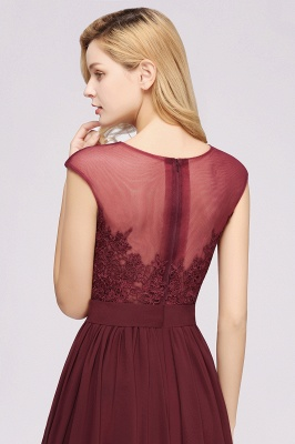 A-line Chiffon Lace Jewel Sleeveless Floor-Length Bridesmaid Dresses with Appliques_7