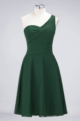 Chiffon A-Line One-Shoulder Sweetheart Sleeveless Short Bridesmaid Dress with Ruffles_30