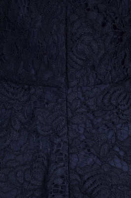 Halter Sleeveless Sheath Asymmetrical Burgundy Lace Dresses_7