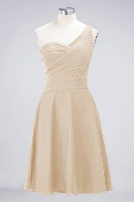 Chiffon A-Line One-Shoulder Sweetheart Sleeveless Short Bridesmaid Dress with Ruffles_14