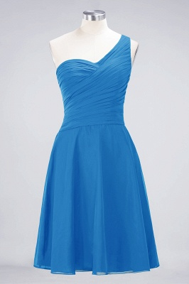Chiffon A-Line One-Shoulder Sweetheart Sleeveless Short Bridesmaid Dress with Ruffles_24