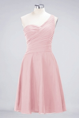 Chiffon A-Line One-Shoulder Sweetheart Sleeveless Short Bridesmaid Dress with Ruffles_3
