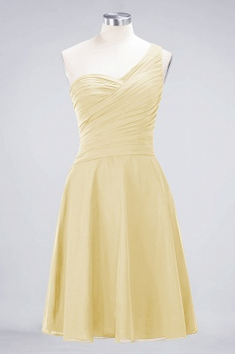 Chiffon A-Line One-Shoulder Sweetheart Sleeveless Short Bridesmaid Dress with Ruffles_17