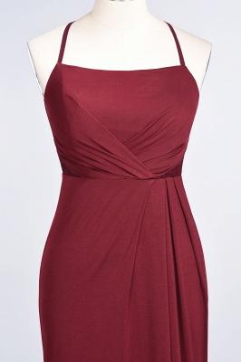 Spandex Lace Mermaid Spaghetti-Straps Sleeveless Long Bridesmaid Dress with Ruffle_34