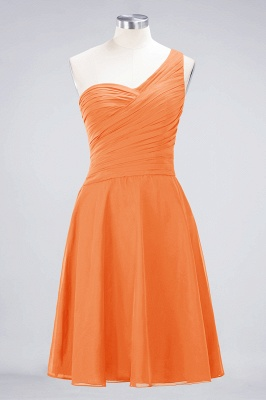Chiffon A-Line One-Shoulder Sweetheart Sleeveless Short Bridesmaid Dress with Ruffles_15