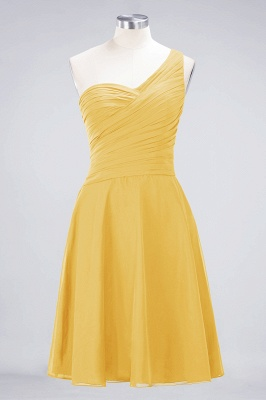 Chiffon A-Line One-Shoulder Sweetheart Sleeveless Short Bridesmaid Dress with Ruffles_16
