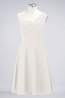 Chiffon A-Line One-Shoulder Sweetheart Sleeveless Short Bridesmaid Dress with Ruffles_2