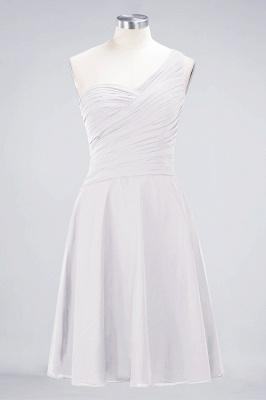 Chiffon A-Line One-Shoulder Sweetheart Sleeveless Short Bridesmaid Dress with Ruffles_1