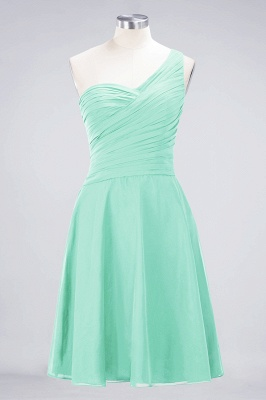 Chiffon A-Line One-Shoulder Sweetheart Sleeveless Short Bridesmaid Dress with Ruffles_34