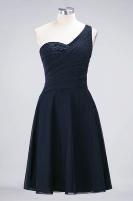Chiffon A-Line One-Shoulder Sweetheart Sleeveless Short Bridesmaid Dress with Ruffles_27