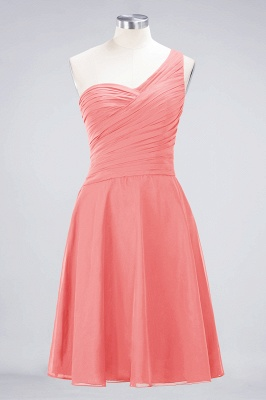 Chiffon A-Line One-Shoulder Sweetheart Sleeveless Short Bridesmaid Dress with Ruffles_7