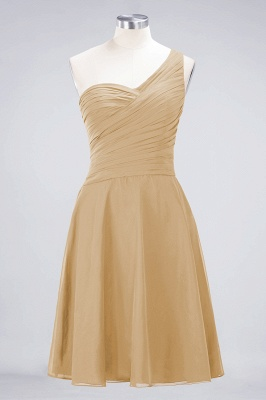 Chiffon A-Line One-Shoulder Sweetheart Sleeveless Short Bridesmaid Dress with Ruffles_13