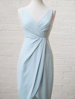 Elegantes, ärmelloses A-Line-Kleid mit V-Ausschnitt und hohem, niedrigem Kleid_3