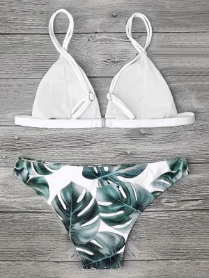 Women Triangle Floral Print Bikini Set_19