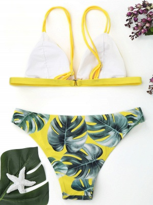 Women Triangle Floral Print Bikini Set_10