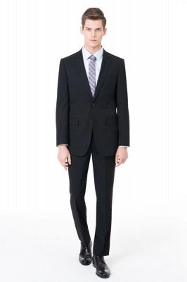 Slim Fit Peak Revers Zweiteiliger Anzug Zwei Knöpfe