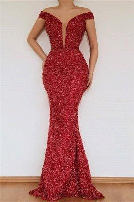 Bourgogne glamour sirène hors l'épaule appliques de dentelle robe de bal avec jupe amovible_2