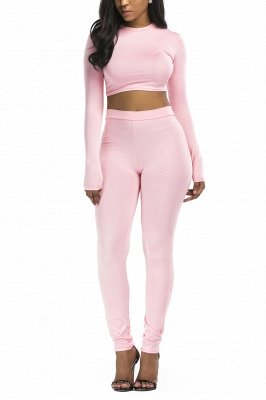 Unique Two Pieces Round Neck Long Sleeves Ployester Long Pants