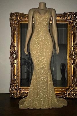 Vestido largo de fista | Impresionante con lentejuelas sirena correa de espagueti_2