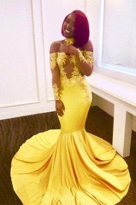 Платье выпускного вечера с открытыми плечами, длинные вечерние платья русалки BA7903_2